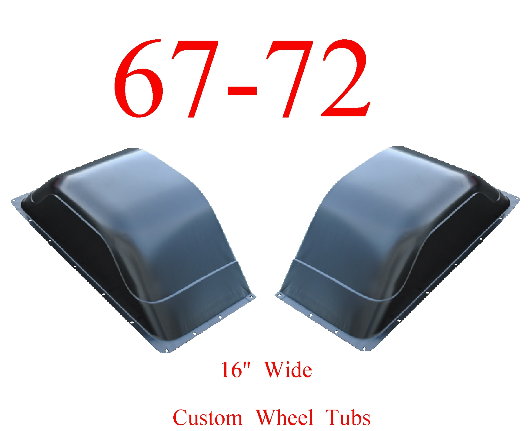 67-72 Chevy Custom Wide Wheel Tubs 16